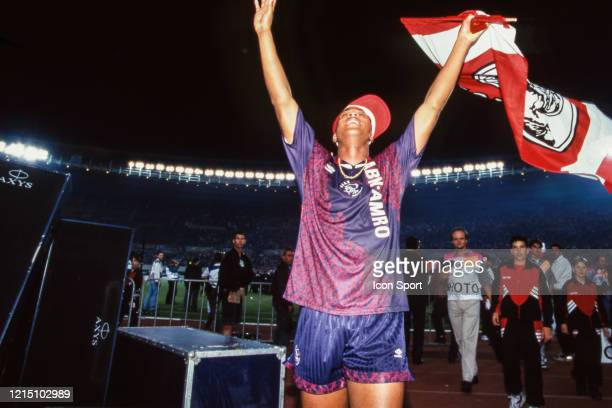 Patrick KLUIVERT of Ajax celebrate the victory during the Champions League Final match between Ajax Amsterdam and Milan AC at ErnstHappelStadion...