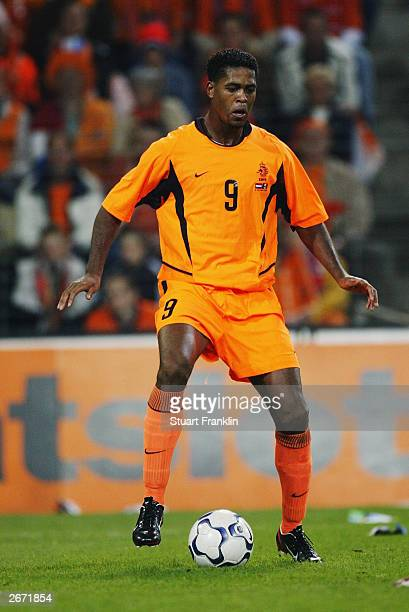 Patrick Kluivert of Holland in action during the European Championships 2004 qualifying match between Holland and Moldova on October 11 2003 at The...