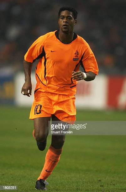Patrick Kluivert of Holland running during the International friendly match between Holland and Argentina held on February 12, 2003 at The Amsterdam...