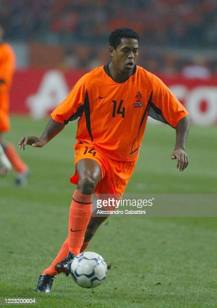 Patrick Kluivert of Netherland in action during the European Play-Off Qualification macth between Netherland and Scotland 2003. Holland
