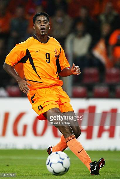 Patrick Kluivert of Netherlands watches the ball during the European Championships 2004 qualifying match between Holland and Moldova on October 11,...