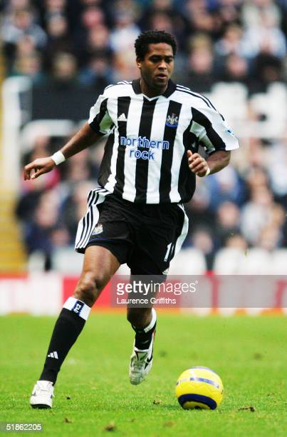 Patrick Kluivert of Newcastle during the FA Barclays Premiership match between Newcastle United and Everton at St James Park on November 28 2004 in...