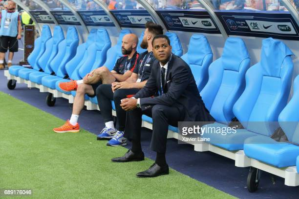 Patrick Kluivert of Paris SaintGermain during the French Cup Final match between Paris SaintGermain and SCO Angers at Stade de France on May 27 2017...