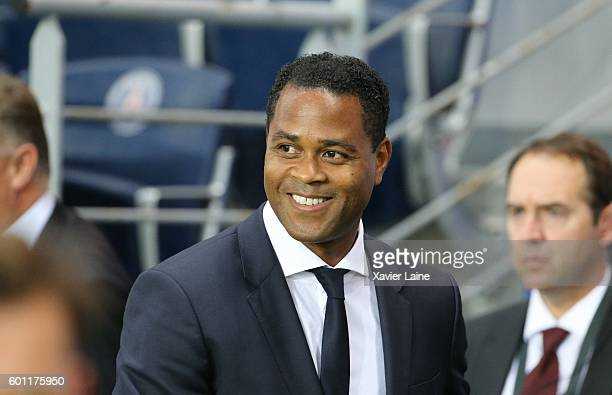 Patrick Kluivert of Paris SaintGermain during the French Ligue 1 match between Paris SaintGermain and AS SaintEtienne at Parc des Princes on...