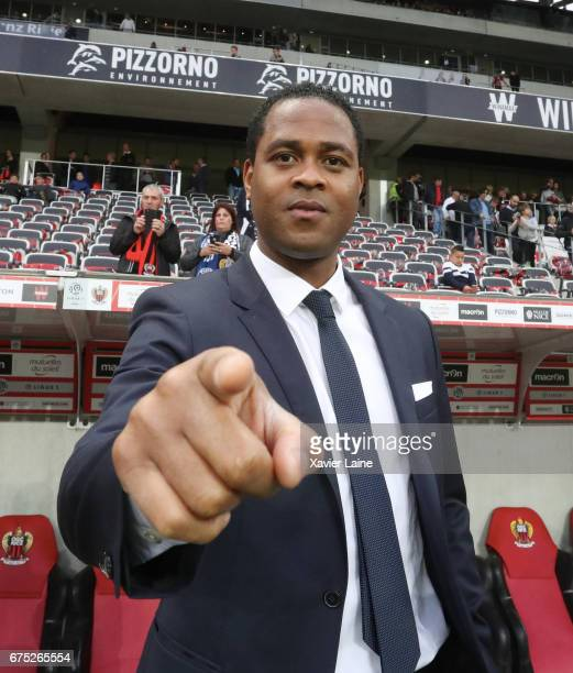 Patrick Kluivert of Paris SaintGermain pose before the French Ligue 1 match between OGC Nice and Paris SaintGermain at Allianz Arena on April 30 2017...