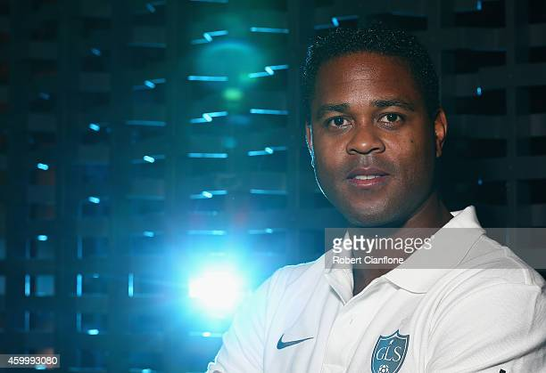 Patrick Kluivert poses during a Global Legends Series portrait session at the Swissotel on December 5 2014 in Bangkok Thailand