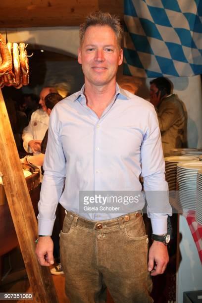 Patrick KnappSchwarzenegger nephew of Arnold Schwarzenegger during the 27th Weisswurstparty at Hotel Stanglwirt on January 19 2018 in Going near...