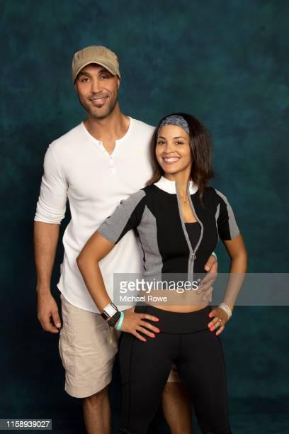Patrick Kodjoe and wife Nicole Kuykendall Kodjoe are photographed for Essencecom on July 5 2019 at 2019 Essence Festival in New Orleans Louisiana