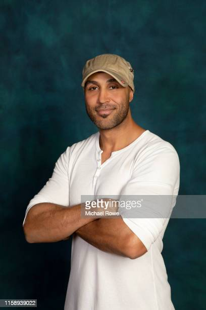 Patrick Kodjoe is photographed for Essencecom on July 5 2019 at 2019 Essence Festival in New Orleans Louisiana