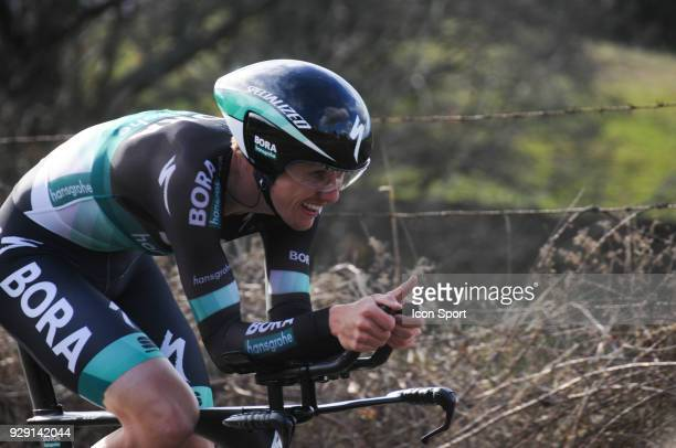 Patrick Konrad of BoraHansgrohe during the fourth stage of the 76th edition of ParisNice cycling race a 184 km individual time trial from La...