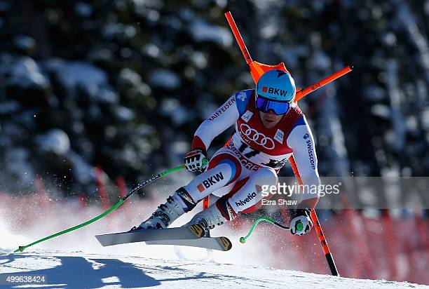 Patrick Kueng of Switzerland competes during downhill training for the Audi FIS Ski World Cup on the Birds of Prey on December 2 2015 in Beaver Creek...
