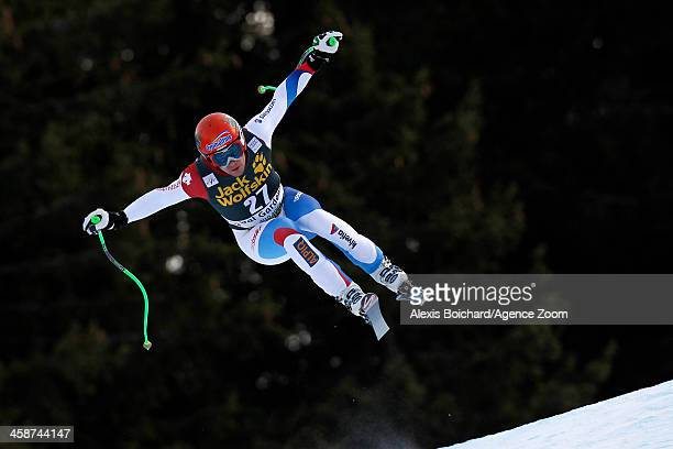 Patrick Kueng of Switzerland competes during the Audi FIS Alpine Ski World Cup Men's Downhill on December 21 2013 in Val Gardena Italy