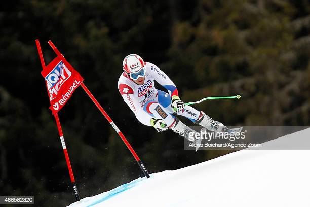 Patrick Kueng of Switzerland competes during the Audi FIS Alpine Ski World Cup Finals Men's Downhill Training on March 17 2015 in Meribel France