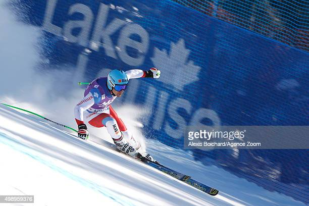 Patrick Kueng of Switzerland competes during the Audi FIS Alpine Ski World Cup Men's Downhill Training on November 27 2015 in Lake Louise Canada