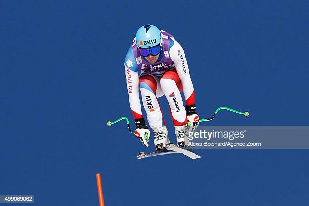 Patrick Kueng of Switzerland competes during the Audi FIS Alpine Ski World Cup Men's Downhill on November 28 2015 in Lake Louise Canada