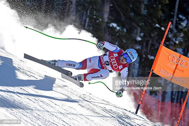 Patrick Kueng of Switzerland competes during the Audi FIS Alpine Ski World Cup Men's Downhill on December 04 2015 in Beaver Creek Colorado