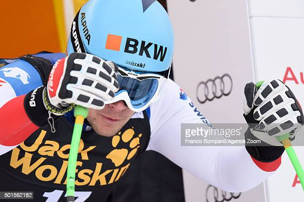 Patrick Kueng of Switzerland competes during the Audi FIS Alpine Ski World Cup Men's Downhill Training on December 16 2015 in Val Gardena Italy
