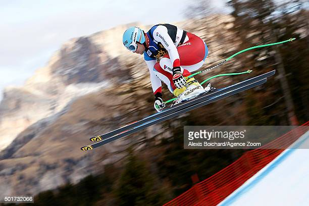 Patrick Kueng of Switzerland competes during the Audi FIS Alpine Ski World Cup Men's Downhill Training on December 17 2015 in Val Gardena Italy