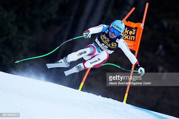Patrick Kueng of Switzerland competes during the Audi FIS Alpine Ski World Cup Men's Downhill on December 19 2015 in Val Gardena Italy