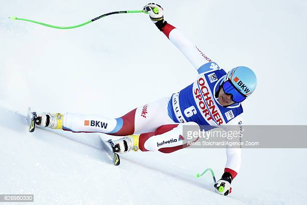 Patrick Kueng of Switzerland competes during the Audi FIS Alpine Ski World Cup Men's Downhill Training on December 1 2016 in Val d'Isere France