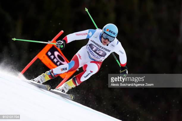 Patrick Kueng of Switzerland competes during the Audi FIS Alpine Ski World Cup Men's Downhill Training on January 25 2018 in GarmischPartenkirchen...