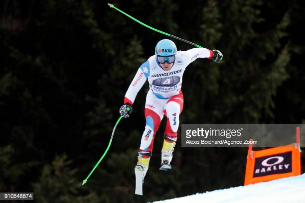 Patrick Kueng of Switzerland competes during the Audi FIS Alpine Ski World Cup Men's Downhill Training on January 26 2018 in GarmischPartenkirchen...