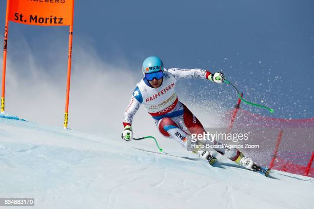 Patrick Kueng of Switzerland competes during the FIS Alpine Ski World Championships Men's Downhill on February 12 2017 in St Moritz Switzerland