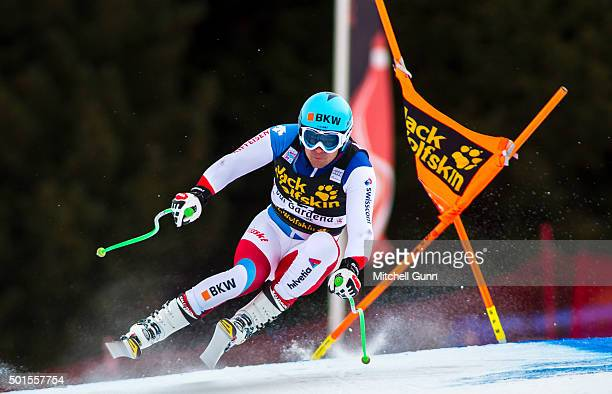 Patrick Kueng of Switzerland during the training run for the Audi FIS Alpine Ski World Cup Downhill race on December 16 2015 in Val Gardena Italy
