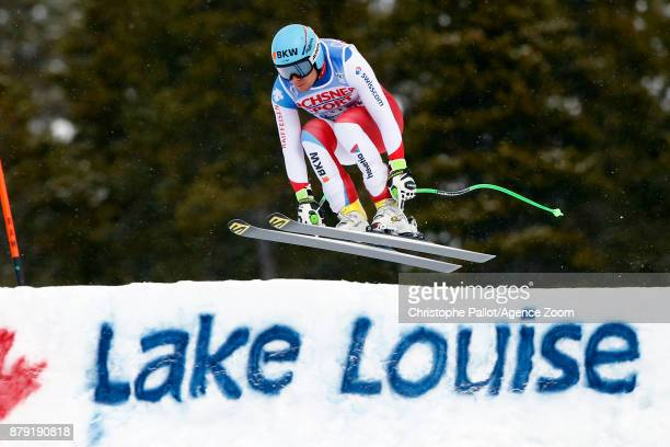 Patrick Kueng of Switzerland in action during the Audi FIS Alpine Ski World Cup Men's Downhill on November 25 2017 in Lake Louise Canada
