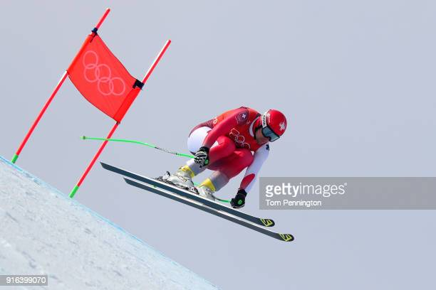 Patrick Kueng of Switzerland makes a run during the Men's Downhill 3rd Training on day one of the PyeongChang 2018 Winter Olympic Games at Jeongseon...