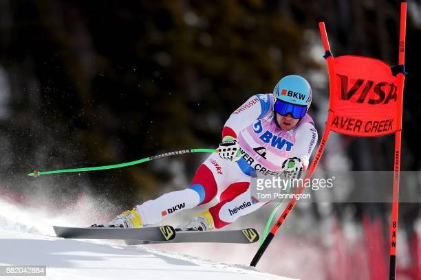 Patrick Kueng of Switzerland skis during the Audi FIS Alpine Ski World Cup Men's Downhill Training on November 29 2017 in Beaver Creek Colorado