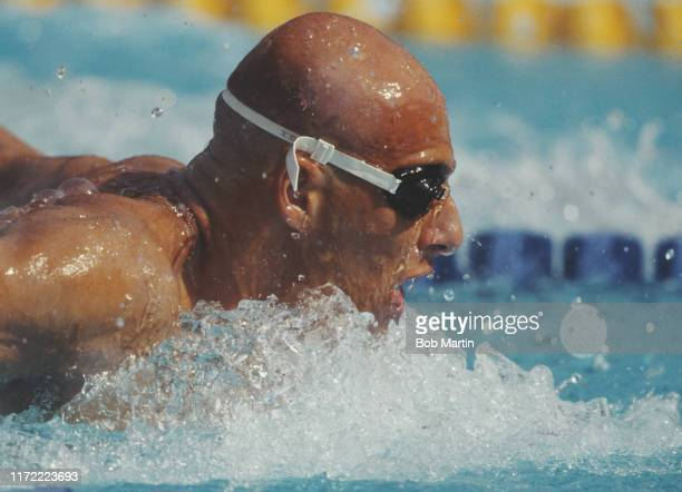 Patrick Kuhl of Germany swims in the Men's 400 metres Individual Medley during the XXV Summer Olympic Games on 27th July 1992 at the Bernat Picornell...