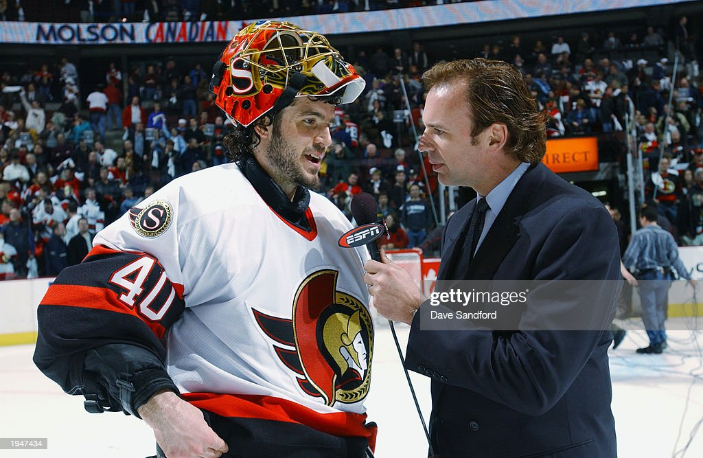 Lalime does ESPN interview : News Photo