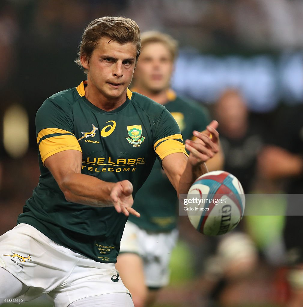 Patrick Lambie of South Africa during the The Rugby Championship match between South Africa and New Zealand at Growthpoint Kings Park on October 08, 2016 in Durban, South Africa.