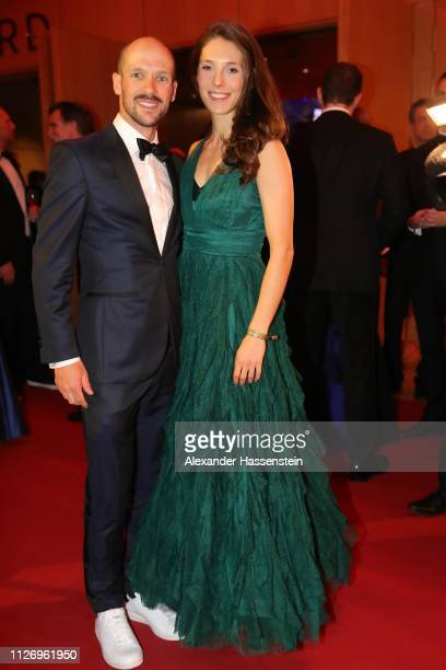 Patrick Lange attends with Julia Hofmann the Ball des Sports 2019 at RheinMainCongressCenter on February 02 2019 in Wiesbaden Germany
