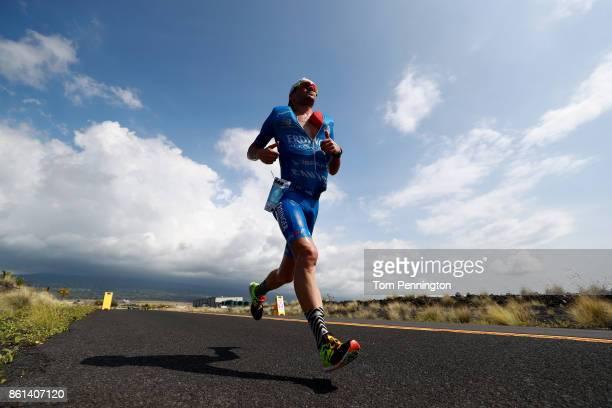 Patrick Lange of Germany runs during the IRONMAN World Championship on October 14 2017 in Kailua Kona Hawaii