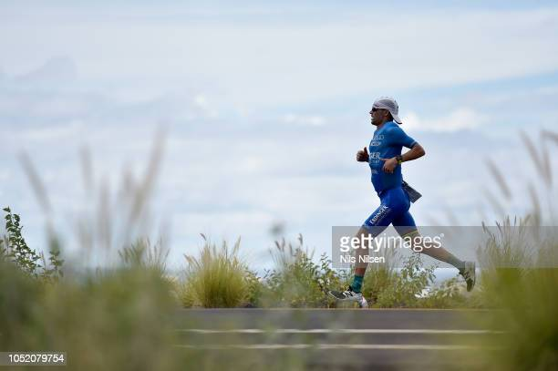 Patrick Lange of Germany runs during the IRONMAN World Championships brought to you by Amazon on October 13 2018 in Kailua Kona Hawaii