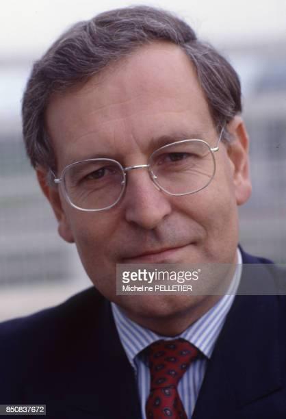 Patrick Le Lay pdg de TF à Paris le 12 octobre 1988 France