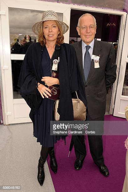 Patrick Le Lay with his wife at the QatarPrix de l'Arc de Triomphe