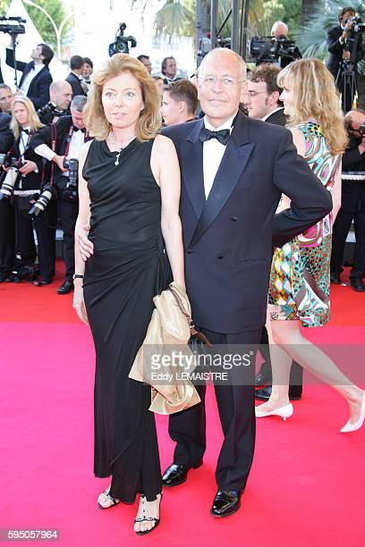 Patrick Lelay and his wife arrive at the premiere of 'Zodiac' during the 60th Cannes Film Festival