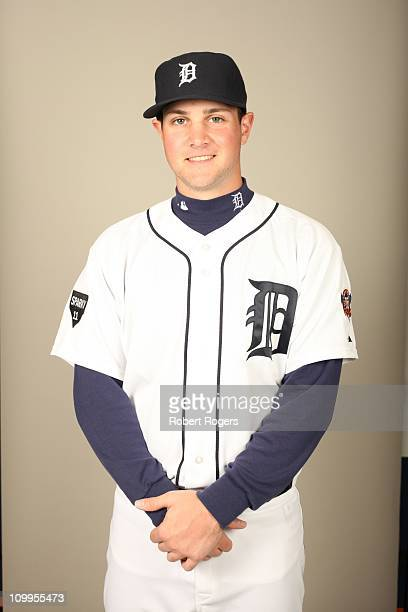 Patrick Leyland of the Detroit Tigers poses during Photo Day on Monday February 21 2011 at Joker Marchant Stadium in Lakeland Florida