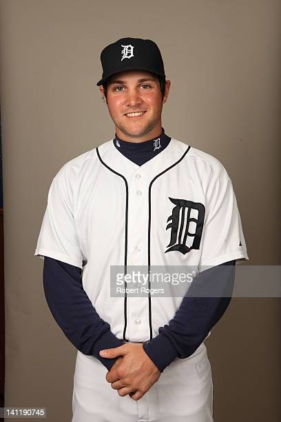 Patrick Leyland of the Detroit Tigers poses during Photo Day on Tuesday February 28 2012 at Joker Marchant Stadium in Lakeland Florida