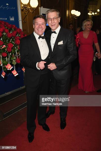 Patrick Lindner and his husband Peter Schaefer during the Semper Opera Ball 2018 at Semperoper on January 26 2018 in Dresden Germany