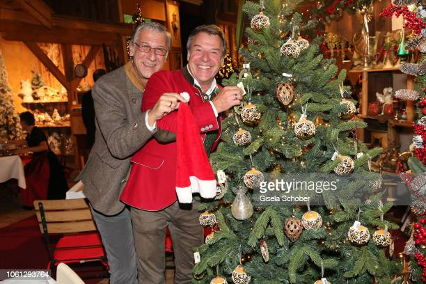 Patrick Lindner and his partner Peter Schaefer during the Gut Aiderbichl Christmas Market opening on November 13 2018 in Henndorf am Wallersee Austria