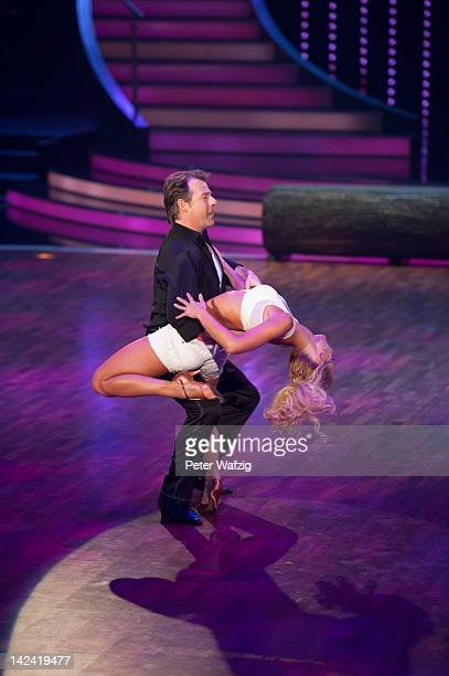 Patrick Lindner and Isabel Edvardsson perform during 'Let's Dance' 4th Show at Coloneum on April 04 2012 in Cologne Germany