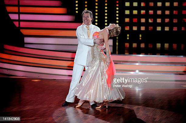 Patrick Lindner and Isabel Edvardsson perform during the 'Let's Dance' TV Show on March 14 2012 in Cologne Germany