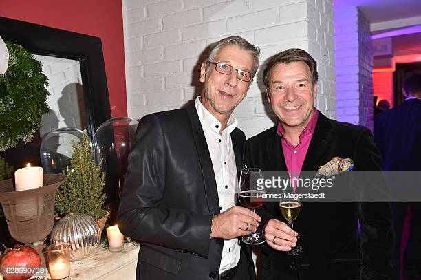 Patrick Lindner and Peter Schaefer during the CONNECTIONS PR XMAS Cocktail at Kaefer Atelier on December 8 2016 in Munich Germany