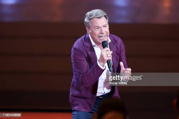 Patrick Lindner during the television show Willkommen bei Carmen Nebel at BadenArena on July 13 2019 in Offenburg Germany