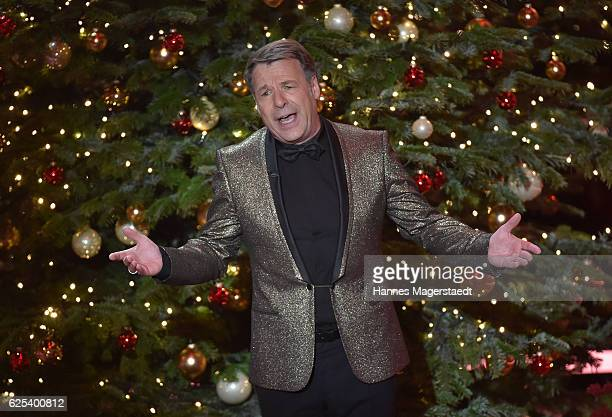 Patrick Lindner during the tv show 'Heiligabend mit Carmen Nebel' on November 23 2016 in Munich Germany The show will be aired on December 24 2016