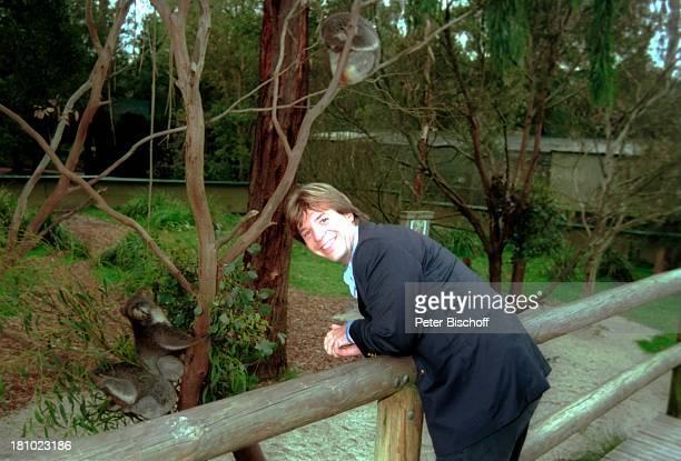 Patrick Lindner, Melbourne/Australien, , Zoo, Koala, Tier, Sänger, Promis, Prominente, Prominenter,